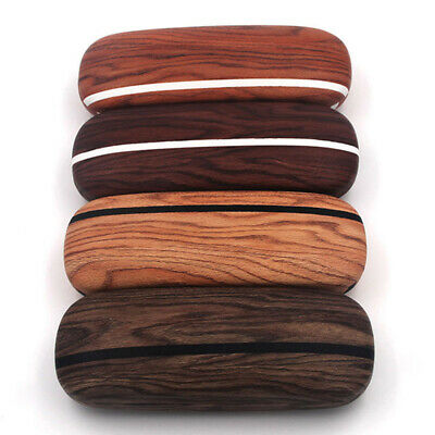 AU10.99 • Buy Portable Eye Glasses Case Hard Box Sunglasses Container Protector Wooden Grain