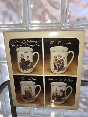 $ CDN35.22 • Buy Norman Rockwell Mug Set Keepers Daughter/The Toymaker/The Cobbler/For A Good Boy