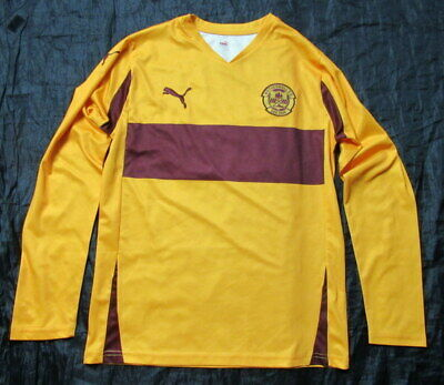 MOTHERWELL FC Home LONG SLEEVE Jersey Shirt PUMA 2010-2011 The Well Adult SIZE M • 58.65£