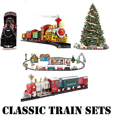 Classic Train Set Railway Electric Christmas Deluxe Large Engine Kids Toy Lights • 11.99£