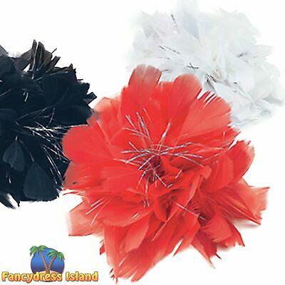 £2.69 • Buy BURLESQUE FEATHER BLACK HAIR CLIP Womens Ladies Fancy Dress Costume Accessory