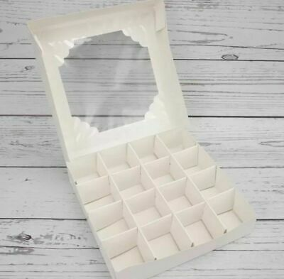 £14.99 • Buy *sale* L@@k* 10 X  Small Empty White Sweet Boxes With Acetate Window+ Inserts