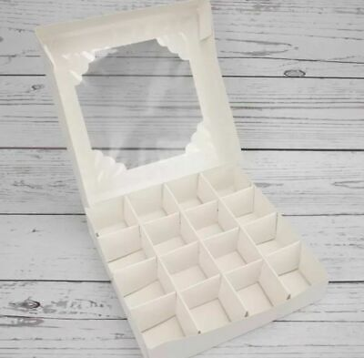 £8.99 • Buy *sale* L@@k* 5 X  Small Empty White Sweet Boxes With Acetate Window + Inserts