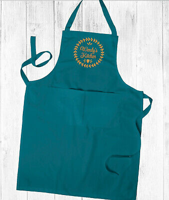 Personalised Embroidered Ladies Kitchen Cooking Apron Cooking Apron,With Pockets • 14.99£
