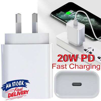 AU18.78 • Buy PD20W Fast Charger Nano AU Plug USB Compatible With IPhone 12 Pro Max Mini