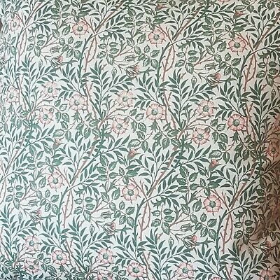 £119 • Buy Door Curtain In William Morris Fabric Heavy Cotton thermal Lined Sweet Bria