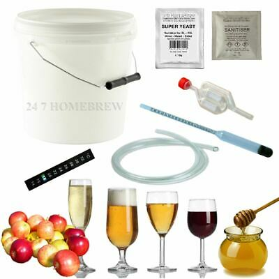 Homebrew Starter Kit 5L 1 Gallon For Wine Cider Beer Mead • 29.50£