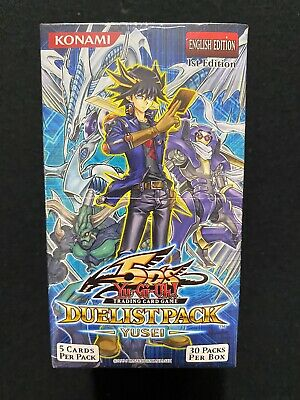 Yugioh! Duelist Pack Yusei 1st Edition 30ct. Booster Box Factory Sealed • 141.90£
