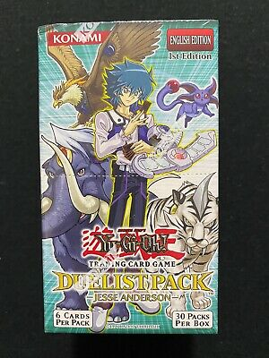 Yugioh! Duelist Pack Jesse Anderson 1st Edition 30ct Booster Box Factory Sealed • 67.21£