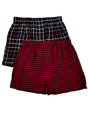 $12.50 • Buy New In Box Hanes 2 Pack Flannel Boxers Men's Size S (28 -30 )