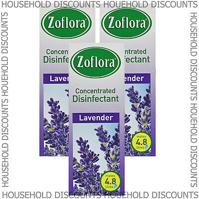 3 X Zoflora Lavender Concentrated Disinfectant Anti Bacterial 120ml • 7.99£