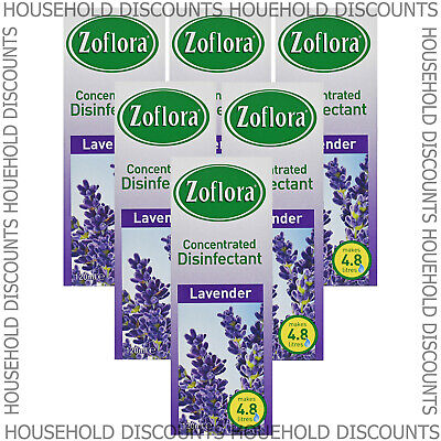 6 X Zoflora Lavender Concentrated Disinfectant Anti Bacterial 120ml • 12.99£