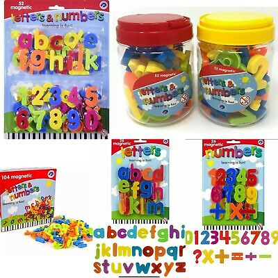 Magnetic Fridge Lowercase Letters And Numbers  Kids Education Learning Toy • 2.45£