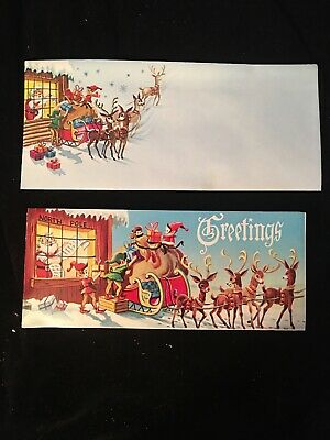 $ CDN5 • Buy New Vintage Christmas Greeting Card And Envelope Make Offers For Multiples