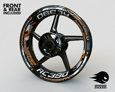 £53.99 • Buy Wheel Stickers For KTM RC390 Rims Tape Decals Graphics Stripes Rim
