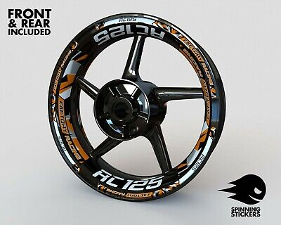 £53.99 • Buy Wheel Stickers For KTM RC125 Rims Tape Decals Graphics Stripes Rim