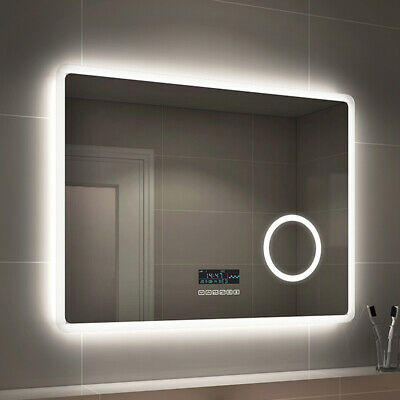 £92.99 • Buy Illuminated Bathroom LED Mirror With Touch Switch Sensor Demister And Lights