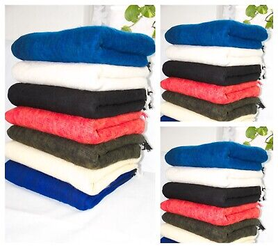 Yak Wool Blanket Large Shawl Meditation Wrap Handmade Wool Softe Light Throws • 29.99£