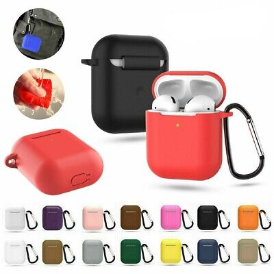 $ CDN4.73 • Buy Silicone Protective Airpods Case Slim Skin Cover For Apple AirPod Earphones