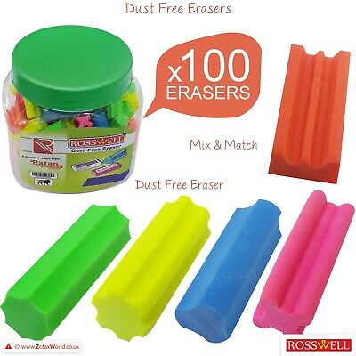 £0.99 • Buy 100 X Rubber Novelty Quality Pencil Erasers Nursery School Pack Party Bag Filler