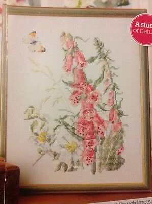 (K) Country Diary Of An Edwardian Lady Foxglove Flower Cross Stitch Chart • 1.99£