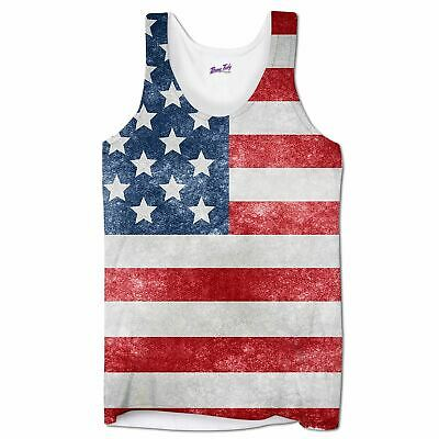 £10.97 • Buy Holiday Vests For Men American Flag Summer Clothing Tank Tops Gym Beach Wear