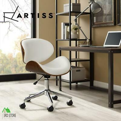 AU130 • Buy Artiss Office Chair Gaming Wooden Computer Chairs Home Study Work Seat White