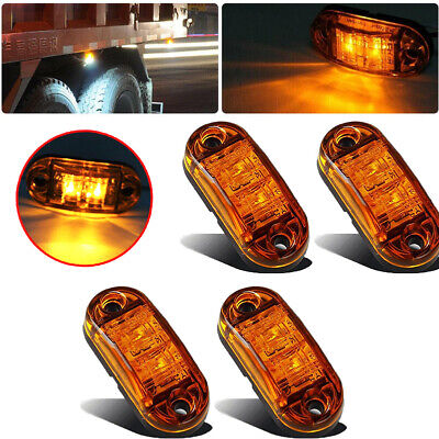 $15.29 • Buy 10x Amber LED Car Truck Trailer RV Oval 2.5  Tail Side Clearance Marker Lights