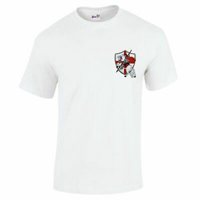 St George's Day England T-Shirt For Men Embroided Horse And Knight • 10.97£