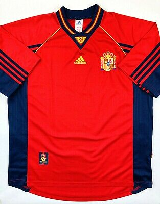 Adidas SPAIN 1998/99 XL Home Football Shirt Soccer Jersey España Camiseta Top • 34.99£