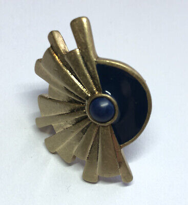 $ CDN32.67 • Buy New Lia Sophia Red Carpet Celebrity Collection Sunburst Ring Blue Lapis Size 6