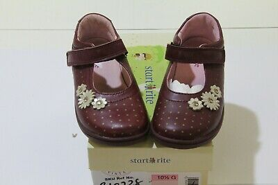 Clarks 'srss Daisy' Girls Leather Shoes Size Uk 10.5g Eu 28 • 20£