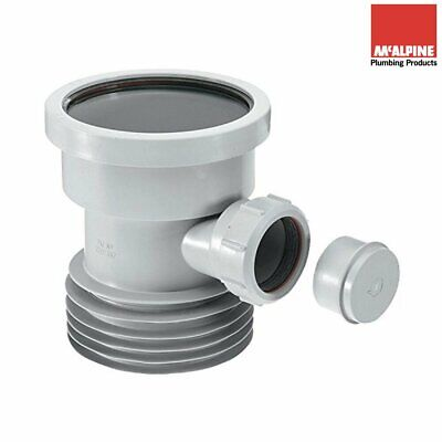 McALPINE 4  / 110mm Drain Connector With 40mm Waste Pipe Boss In Grey • 14.45£