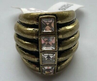 $ CDN12.63 • Buy NWT New Lia Sophia Diverge Ring Cut Crystal Statement Ring