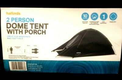 £24.99 • Buy Halfords 2 Person Dome Tent With Porch