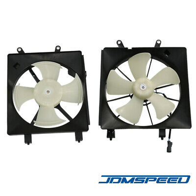 $65.88 • Buy Left & Right Radiator Cooling Fan W/ A/C Condenser Fan For 2001-2005 Honda Civic