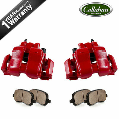 $200.69 • Buy For 2009 2010 Escape Mariner Front Red Coated Brake Calipers & Ceramic Pads