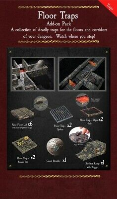 $ CDN126.47 • Buy Dwarven Forge Dungeon Of Doom Floor Traps D&D Terrain Tiles 5-FLO-P PAINTED NEW