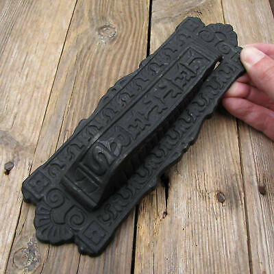 Vertical Cast Iron Letter Box Plate Door Knocker / Mail Slot / Mailbox • 34.99£