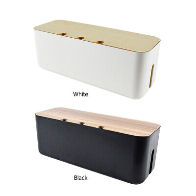 £17.21 • Buy Wooden Cable Storage Box Dust-proof Charging Line Wire Management Tidy Organizer