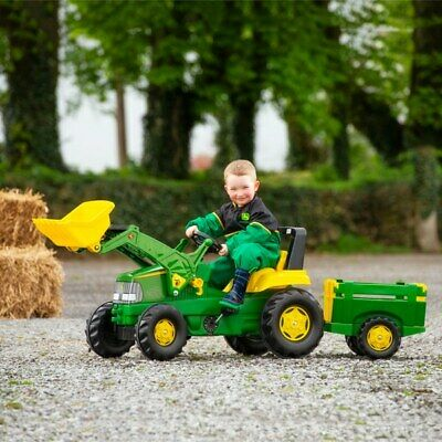 £179.99 • Buy John Deere LARGE Tractor,Trailer And Loader Ride On Toy For Kids With 360° Spin