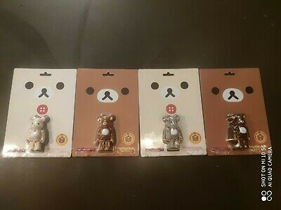 $91.13 • Buy Complete Set Bearbrick Rilakkuma Brown And White , 4 Pc Clear And Flocky Vers