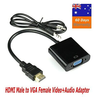 AU7.25 • Buy HDMI Male To VGA Female 1080p Adapter + Audio Cable Converter Chipset Built In