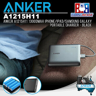 AU105.11 • Buy Anker A1215H11 13000mAh IPhone/iPad/Samsung Galaxy Portable Charger - Black
