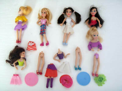 Polly Pocket Pop 'n Swap Dolls, Clothes, Stands - Lot 1 • 7.99£