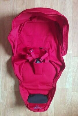 NEW Genuine Quinny Zapp Xtra 2 Seat Cover And Canopy Fabric Set -Red Rumouy • 34.99£