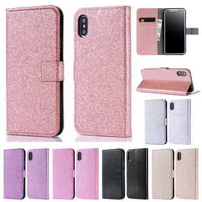 AU9.99 • Buy Case For IPhone 11 12 Pro Max X 6 7 8 Plus Bling Glitter Flip Wallet Phone Cover