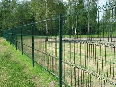 1.7m High V Mesh Green Panel Security Fencing System Steel Wire Post 1 Meter • 15.95£