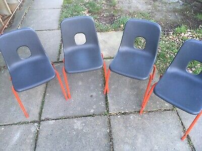 £25.88 • Buy 4 X Vintage Hille Robin Day Style Childs Chairs