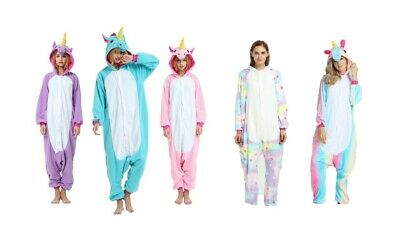 AU23.11 • Buy Unisex Adult Kigurumi Unicorn Rainbow Pink Blue Purple Pyjamas 1Onesie1 Jumpsuit